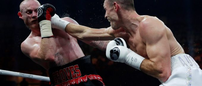 Callum Smith stops George Groves in Jeddah to become WBA super middleweight world champion
