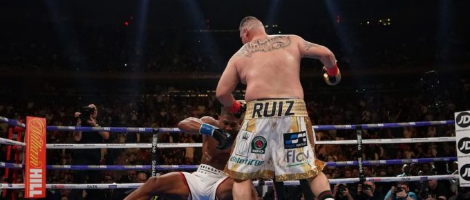 Anthony Joshua stunned by relentless Andy Ruiz Jr in one of the biggest upsets in boxing history