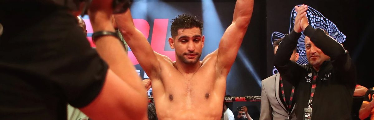 Amir Khan targets Manny Pacquiao after stopping Australian welterweight Billy Dib in Saudi Arabia