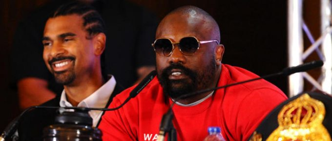 Dereck Chisora hijacks Josh Taylor press conference for foul-mouthed rant at boxing promoter Eddie Hearn