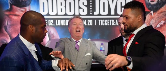 Sparks fly as all-British heavyweight showdown between Daniel Dubois and Joe Joyce announced