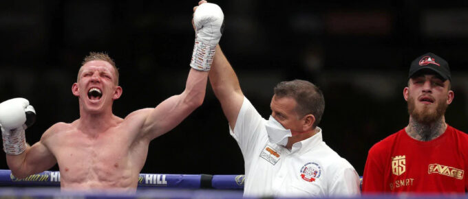 Ted Cheeseman wins IBF international light middleweight title after unanimous points decision over Sam Eggington