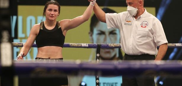 Katie Taylor says women's boxing 'is on fire' at the moment after her victory over Miriam Gutierrez