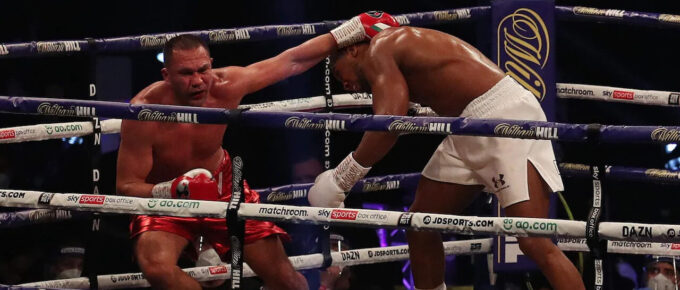 Joshua vs Pulev result: Anthony Joshua delivers knockout in ninth round after commanding display