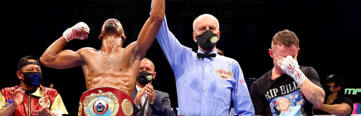 Carl Frampton announces retirement after losing title fight to Jamel Herring