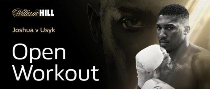William Hill Livestream: Anthony Joshua v Oleksandr Usyk open workout | William Hill Boxing