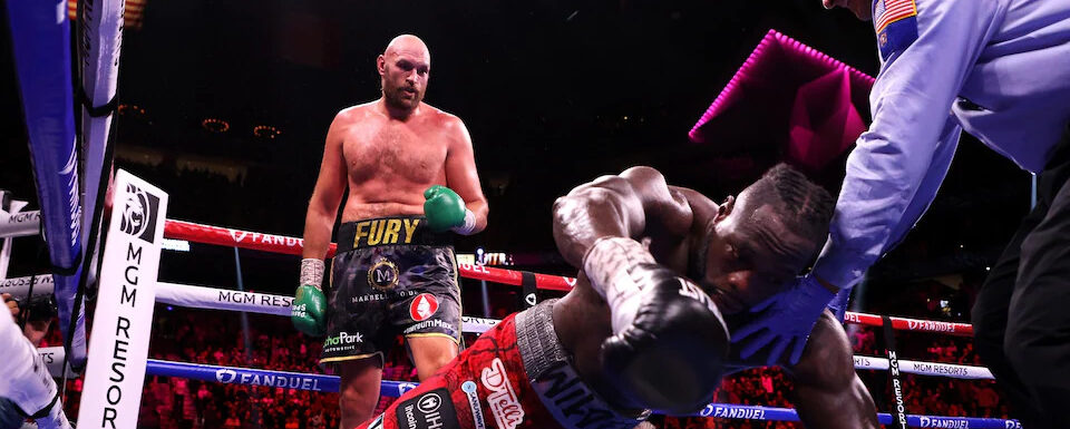 Tyson Fury hauls himself off canvas twice to knockout Deontay Wilder in spellbinding heavyweight classic